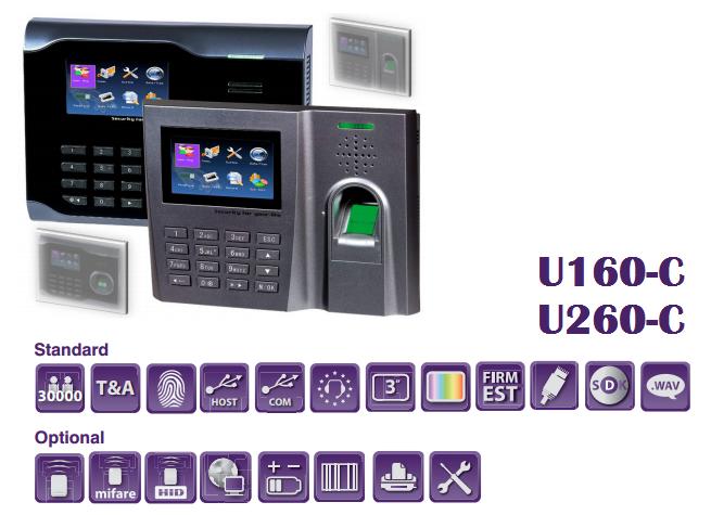 Máy Chấm Công Vân tay ZKsoftware U260-C nhanh nhất – Thiết bị phụ